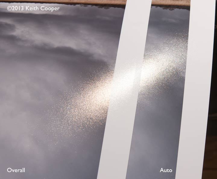 visibility of gloss coat