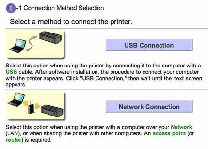 network setup options