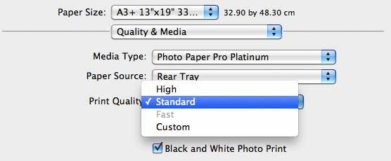 setting basic print quality