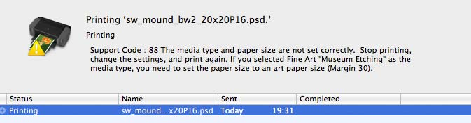 paper size warning