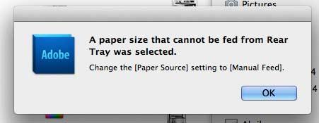 paper size error