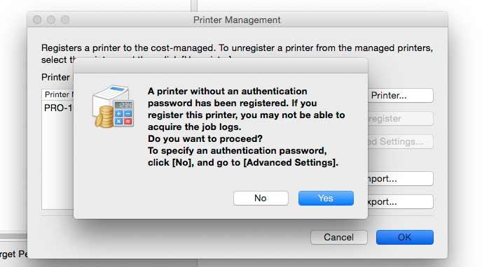 printer password