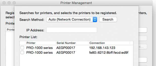 selecting printer to use