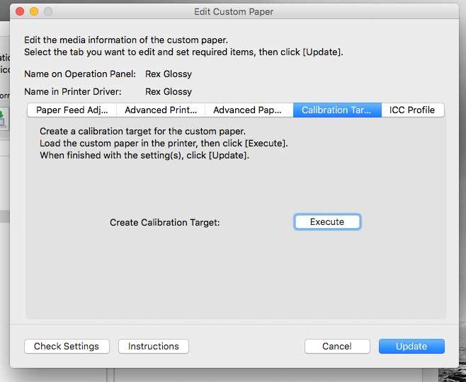 calibration option for new media type
