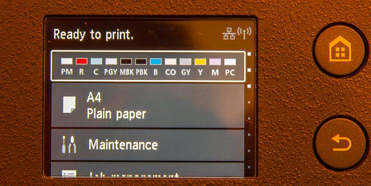 main LCD display