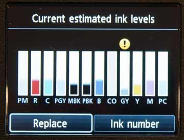 low ink warning