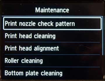 nozzle check option