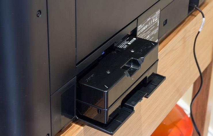maintenance cart slots into back of printer