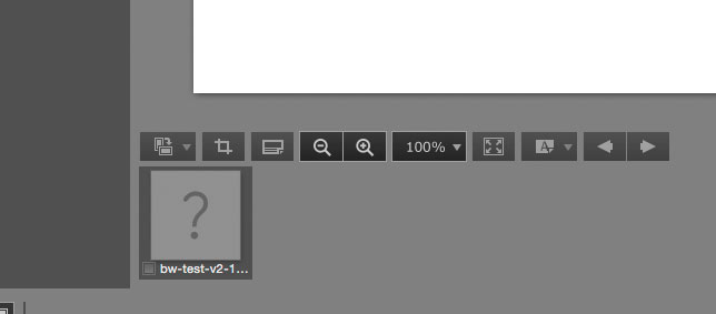 non detection of greyscale image