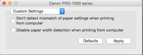 custom media detection settings