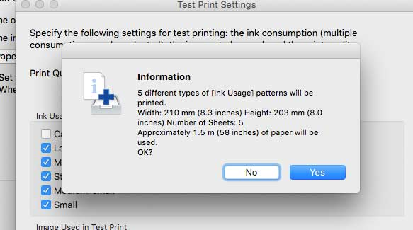 test print notice