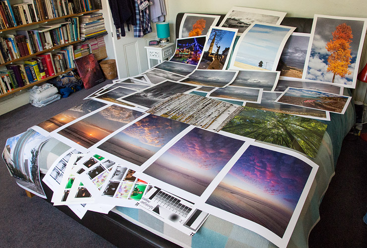 collection of test prints