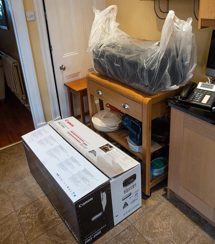 bag to lift printer