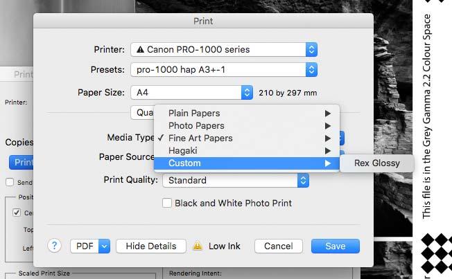 custom media appears in settings