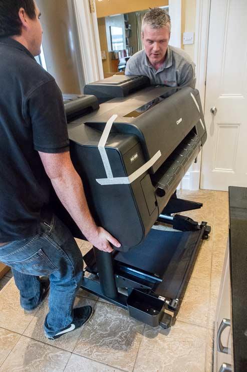 liftin printer on to stand