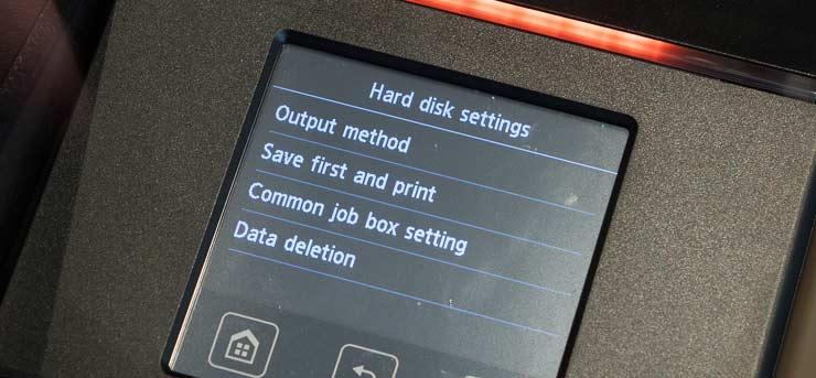 hard disk unit contols