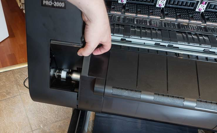print catcher attachment point left