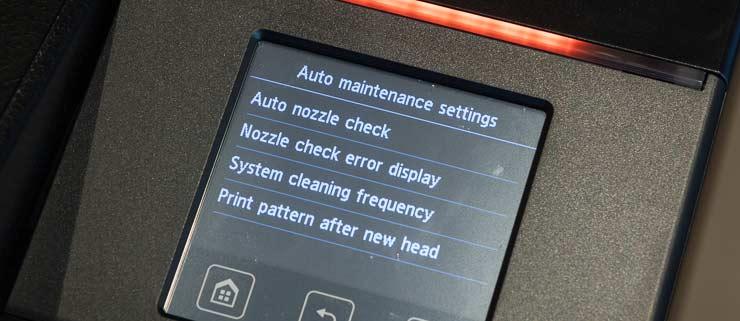 auto maintenance settings