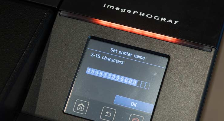 setting the printer name