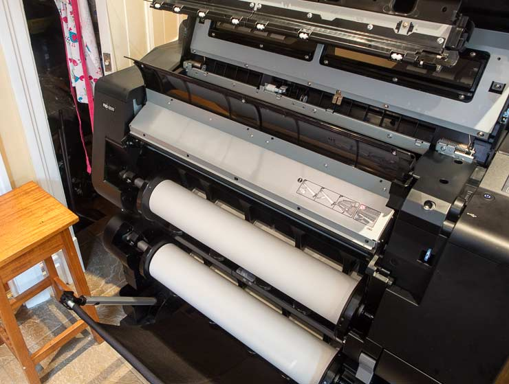 two rolls of paper loaded