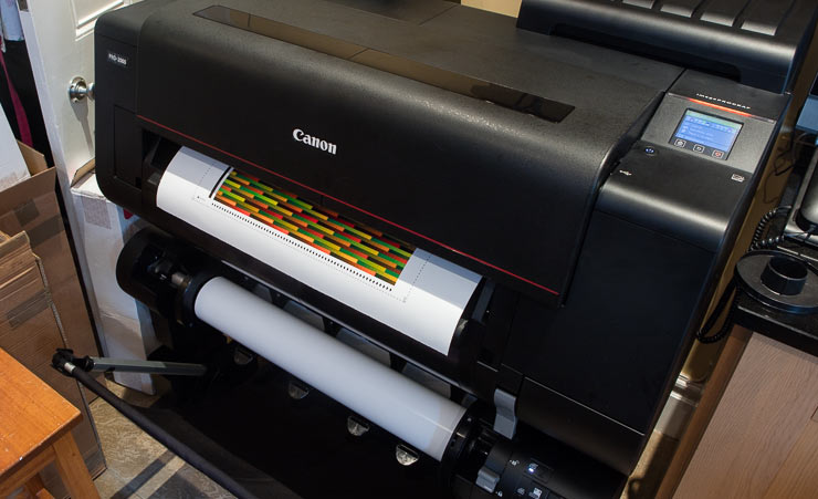 printing profiling target on roll paper