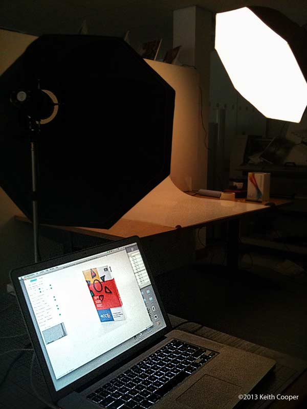 laptop being used for tethered shooting of product photos