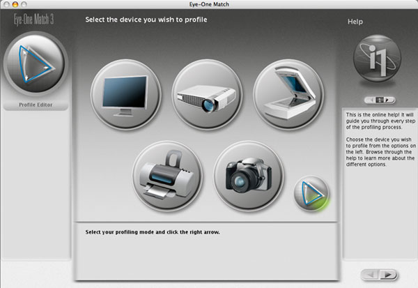 selecting printer profile editing