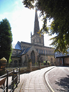 approach to st mary de castro, leicester