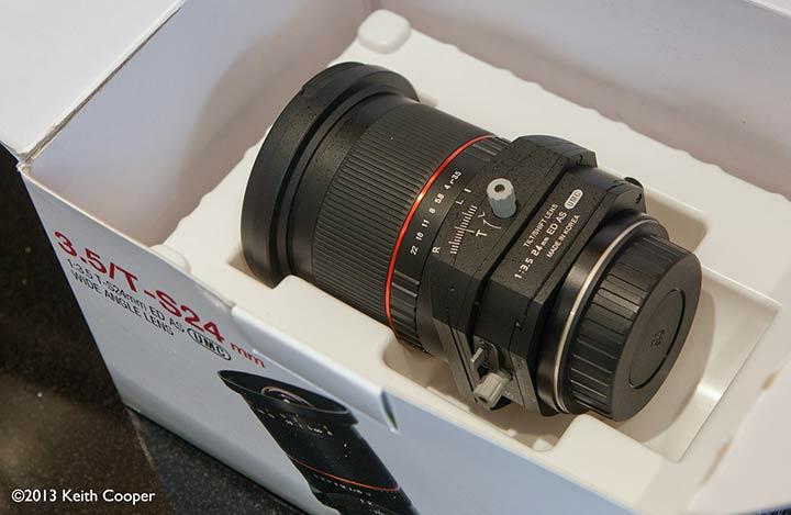 Samyang/Rokinon 24 mm t/s lens
