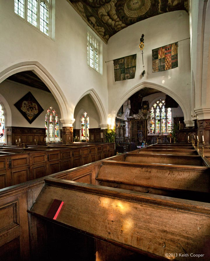 Interior of Staunton Harold church