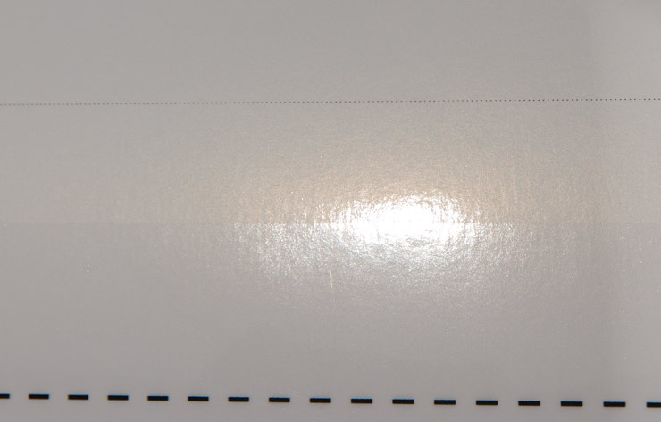 gloss optimiser showing effect on a glossy paper