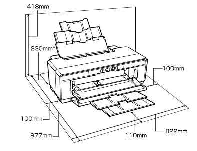 printer dimensions sc-p400