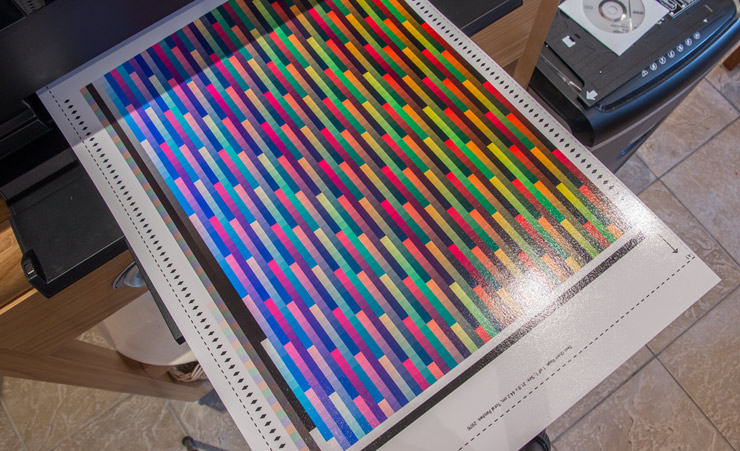 printed profiling test target