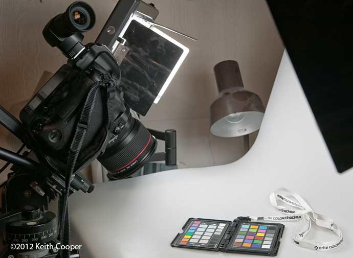 camera setup for testing lens tilt