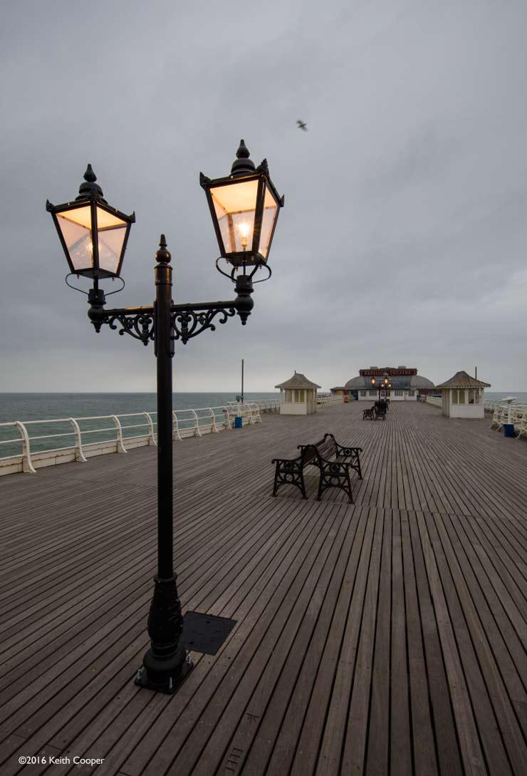 cromer pier at dusk