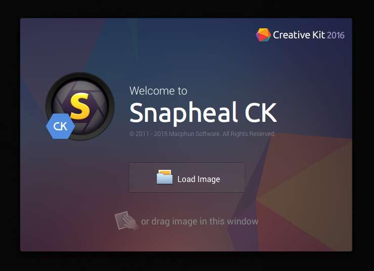 snapheal startup screen