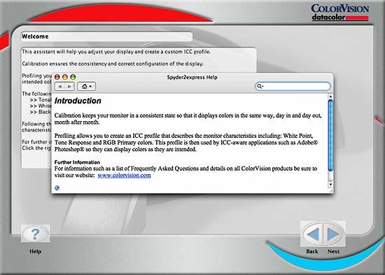Spyder 2 express software start up screen