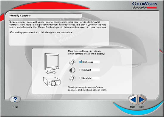 monitor controls