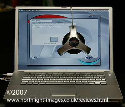 Spyder 2 Pro on a laptop