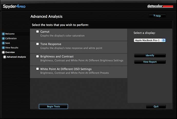 advanced monitor analysiss software options