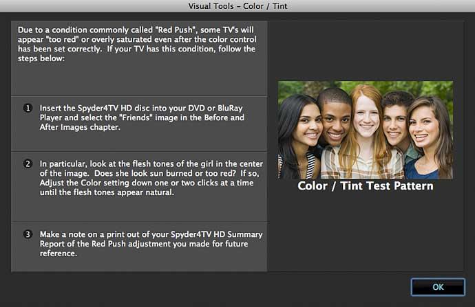 colour test image