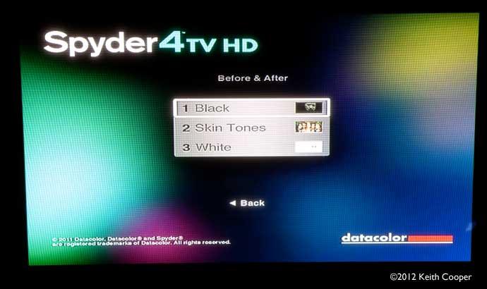DVD menu for test images