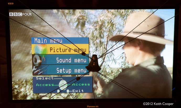 picture adjustmenr menu on TV