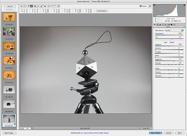 spydercube on tripod