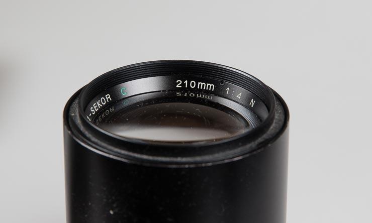 mamiya 210mm f/4 lens