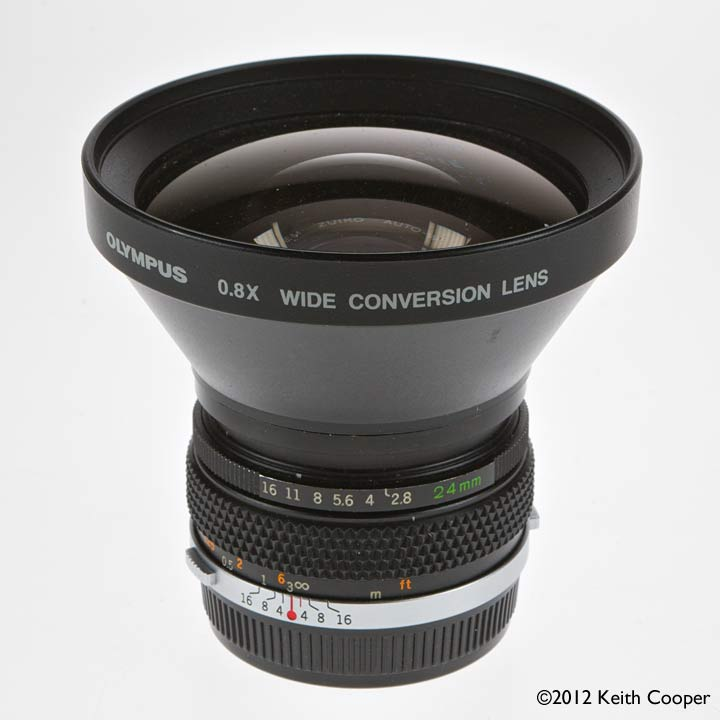 24mm lens with 0.8x converter
