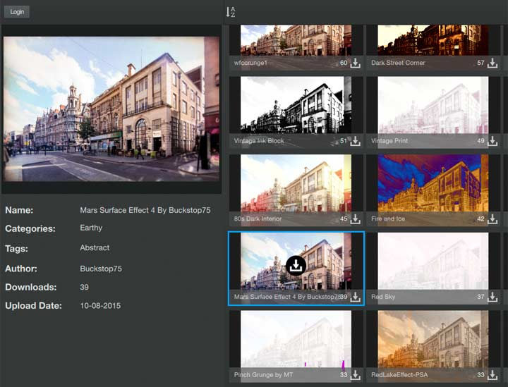 community sourced image presets