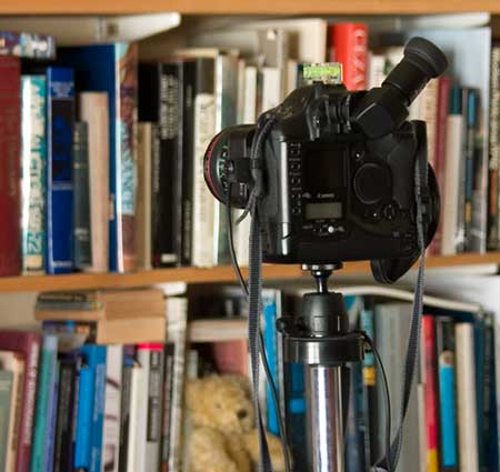camera in library