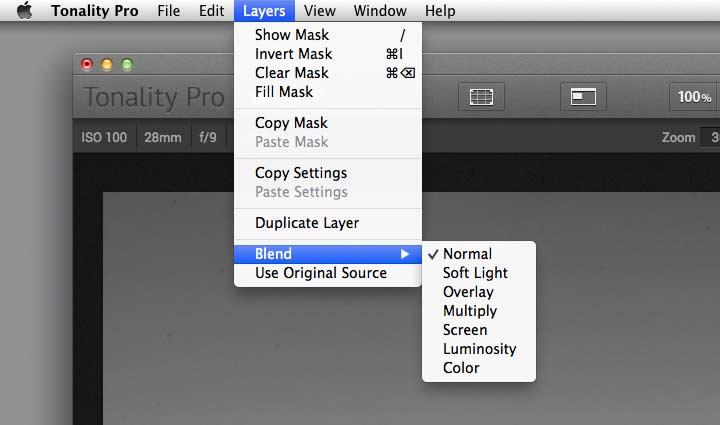 altering layer blending modes