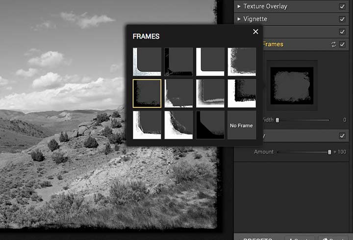 adding a frame effect to an image